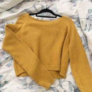 Mustard glassons cropped knit