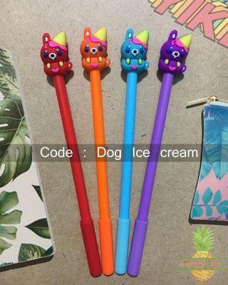 Pulpen karakter : Dog Ice Cream