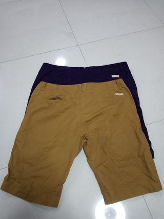 🚚 BN Bermudas size 35 & 36 (purple & khaki)