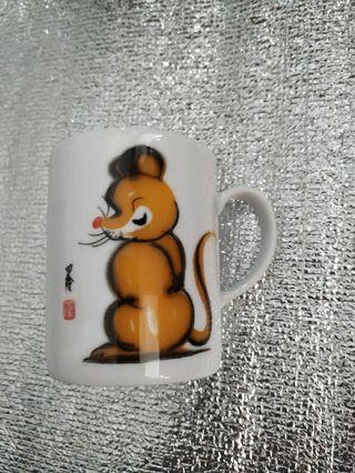 鼠年生肖瓷杯