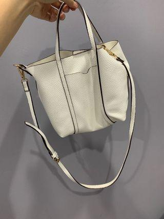 Mango white sling bag