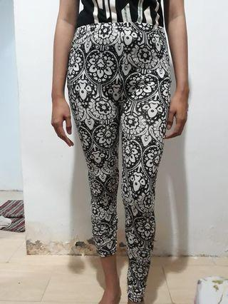 Legging Motif Black & White