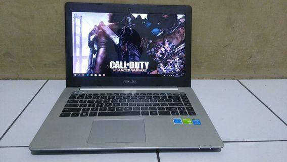 Asus A451LN core i5 nvidia GT840M 2gb ram 4gb 1tb gaming siap pakai