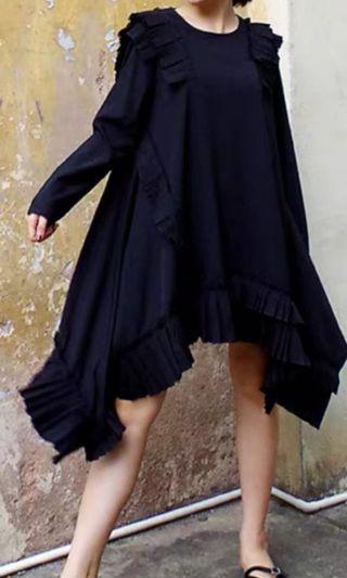 Dress black truffled