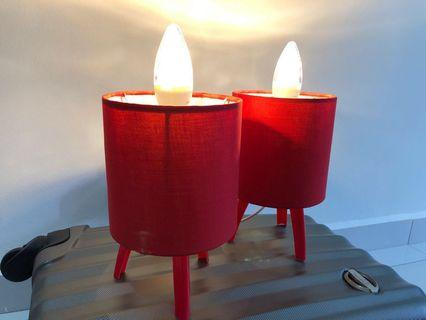PHILIPS Table Lamp in Red , with twin PHILIPS LED