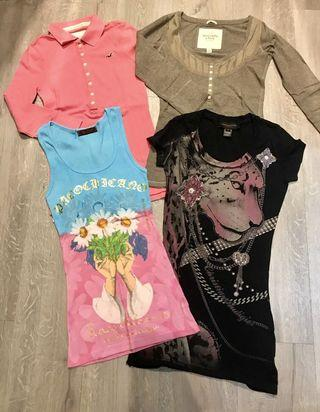 *BUY 2 GET 1 FREE* Lots of 4 TOP ( XS-S ) Abercrombie/ ed hardy