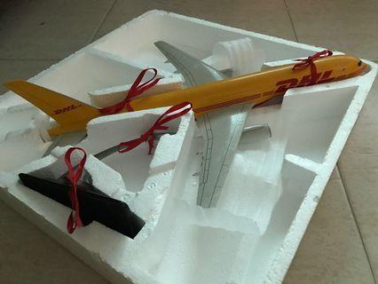 Large Scale DHL Diecast Plane