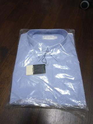 🚚 BN long sleeves business shirt. Blue. Size 17.5.