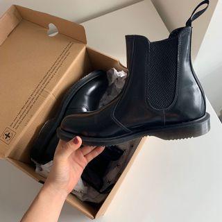 Dr Martins Flora Black Boots