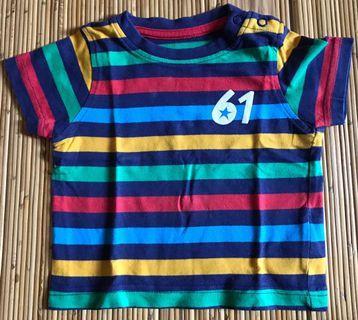 Kaos Mothercare stripes size 0-3 bulan
