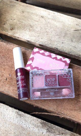 Emina liptint&eyeshadow (bundling 2 items)