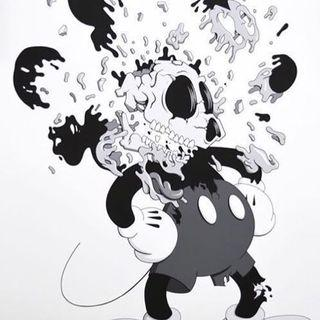 """Deconstructed Mouse"" Matt Gondek Clean Break B&W Limited Print"