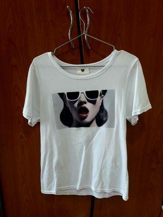 《夏季T恤》白色短踢/oversized/T-shirt