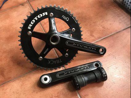 Sram Omnium Crankset + Rotor Chainring