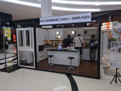 Kitchen set aluminium display pameran