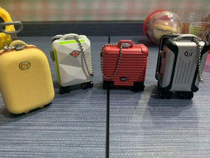 Mini luggage keychain