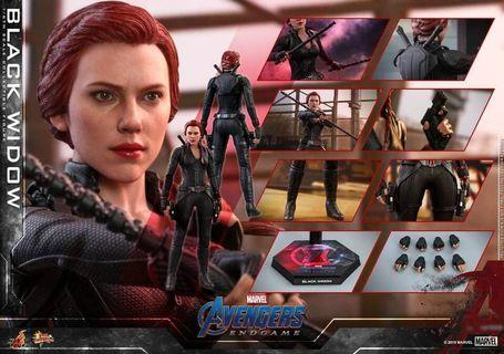 *PO* Avengers: Endgame Movie Masterpiece Figures by Hot Toys Black Widow 1/6 Scale Figure