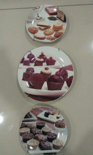 Wall Hanging Plate - Set of 3pcs