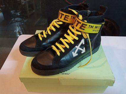 Off white hi top strap