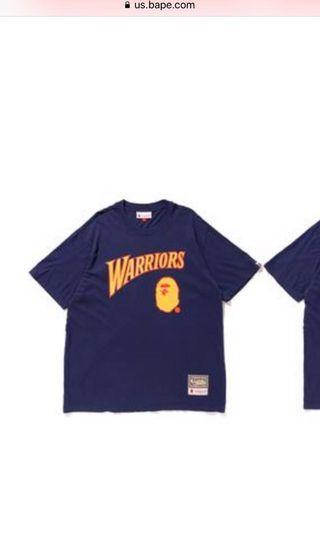 "全新 ""A Bathing Ape x NBA Warriors"" T-shirt (Size: M)"