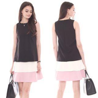 Anticlockwise ACW Triple Layered Dress in Black
