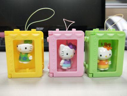 🚚 二手公仔 Hello Kitty吊飾組