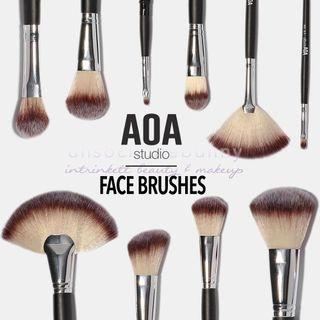🚚 Face Makeup Brushes AOA Studio by US Instock Drugstore Cosmetics