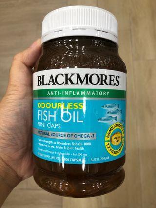 (再返現貨400粒) ~ BLACKMORES 無腥味魚油丸迷你膠囊 (BLACKMORES Odourless Fish Oil Mini) 到期日 :2021年11月