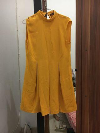 Zara Trafaluc Dress in Mustard