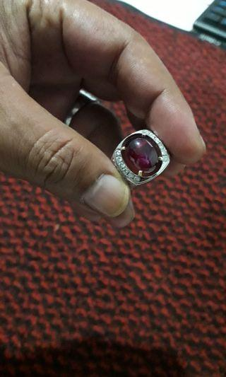 Cincin batu ruby pigeon blood