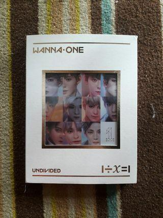 READYSTOCK🔥🔥[Want To Sell Fast🔥] WANNA ONE UNDIVIDED ALBUM ART VERSION
