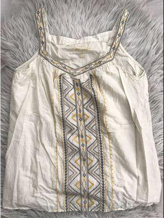#ChangeTheCycle Sonoma Dusty Yellow Embroidered Top