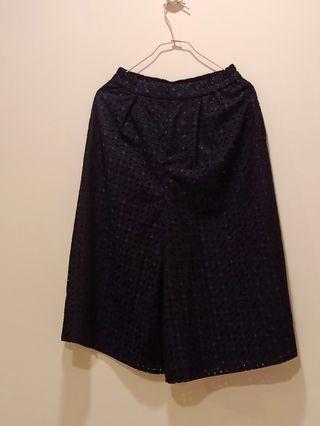 日系Anysis深藍色褲裙0號