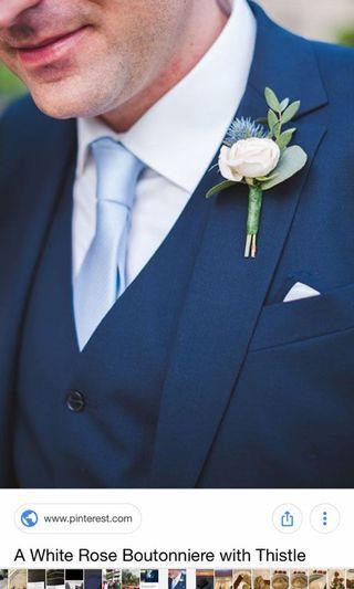 Light Blue Grey Tie
