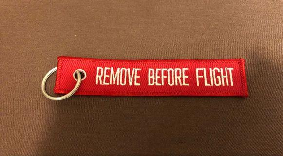 REMOVE BEFORE FLIGHT 匙扣