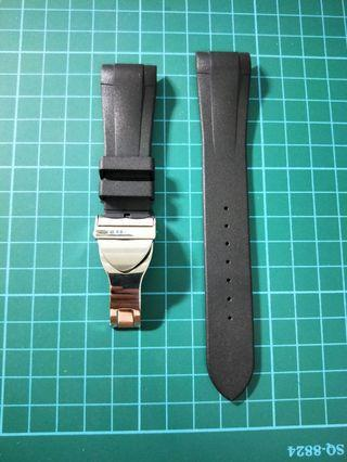 Tudor black bay rubber B with authentic buckle