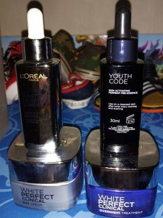Loreal paris white perfect clinical + youth code