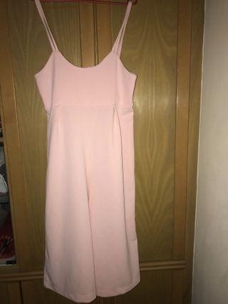Pink overalls/jumpsuit