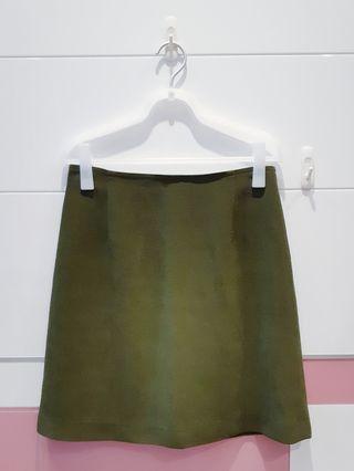 🚚 墨綠質感短裙