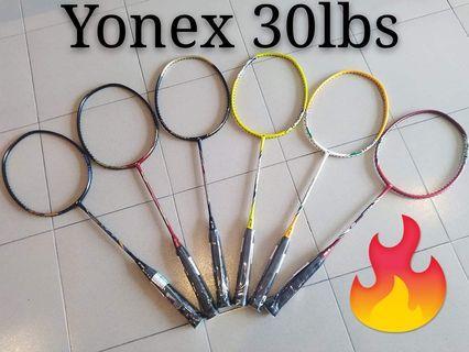 badminton racket YONEX 30lbs
