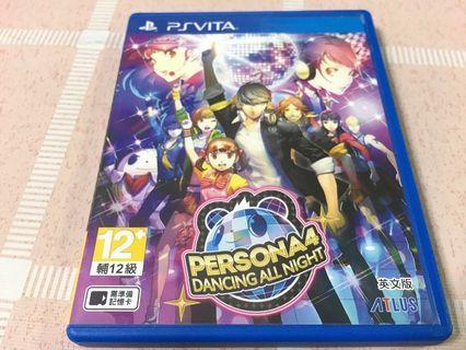 PS Vita Games Persona 4 Dancing All Night -ENG