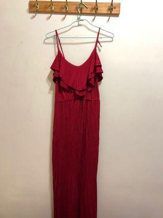 🚚 forever 21紅色長洋裝