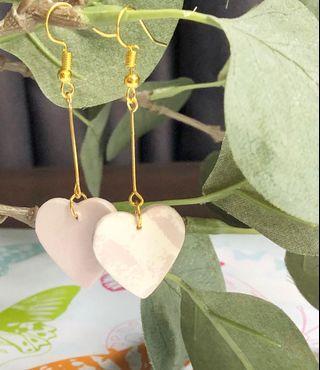 🚚 DIY CLAY EARRINGS - HEARTS 01