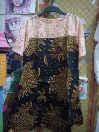 Mididress mix batik