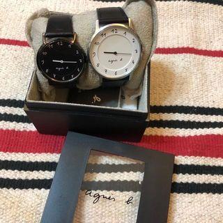 二手商品 ✖️ agnes b. (黑錶已售出)簡約時尚草寫腕錶