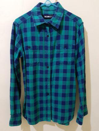 Flanel Blue Green