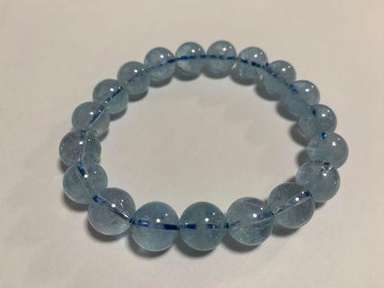 海藍寶水晶手鏈