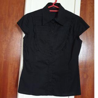 Alain Black Cap Sleeve Shirt #EndgameYourExcess