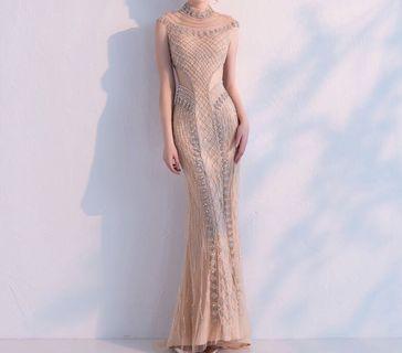 Long Gown Party Gown Long Dress Gaun Mewah Gaun Panjang Gaun Blink Blink