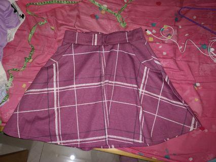 Cotton On粉紅格子短裙